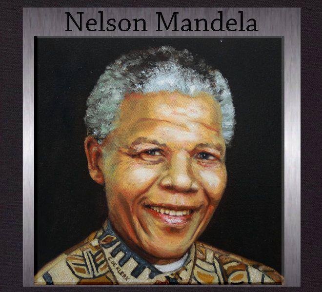 Nelson Mandela -  Madiba Portrait. Original Oil Painting. Gallery Quality Fine Art. Free Shipping. by ElcoStudio on Etsy