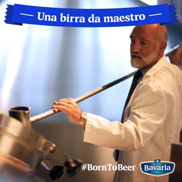 Per Bavaria il mastro birraio è fondamentale: è alla sua arte di miscelare il malto, il lievito, il luppolo e l'acqua che devo il gusto per cui mi contraddistinguo. #borntobeer