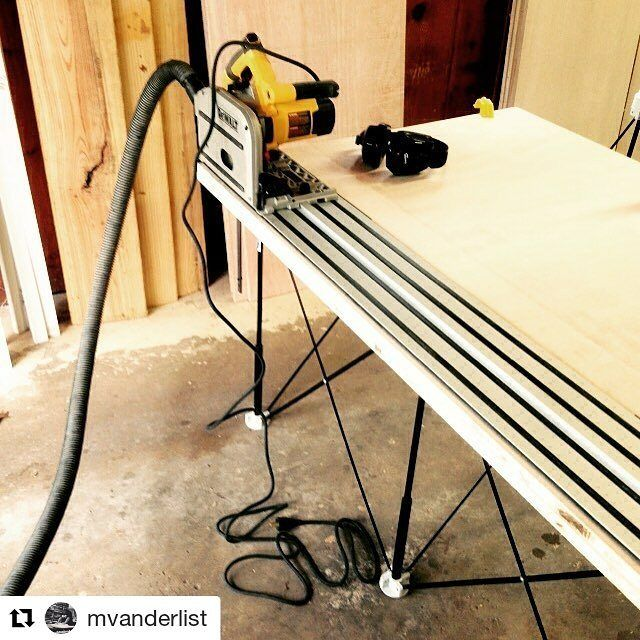 Another #CentipedeSupport track #saw #stand in this repost via @mvanderlist:    This project is helping to remind me how much I love this track saw! #tracksaw #plywood #procrastinationproject #mattsbasementworkshop ・・・  with @repostapp  #CentipedeTool #portable #workbench #temporary #woodshop #worktable #workshop #workstation #workspace #platform #sawhorse #base #wood #woodworking #woodworker #chippy #carpentry #joinery #dewalt #cutting #diy #tools #protools
