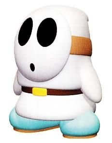 A White Shy Guy From The Official Artwork Set For Yoshisstory On The N64 Yoshi Nintendo64 Visit For More Inf Shy Guy Super Mario Birthday Game Mario Bros