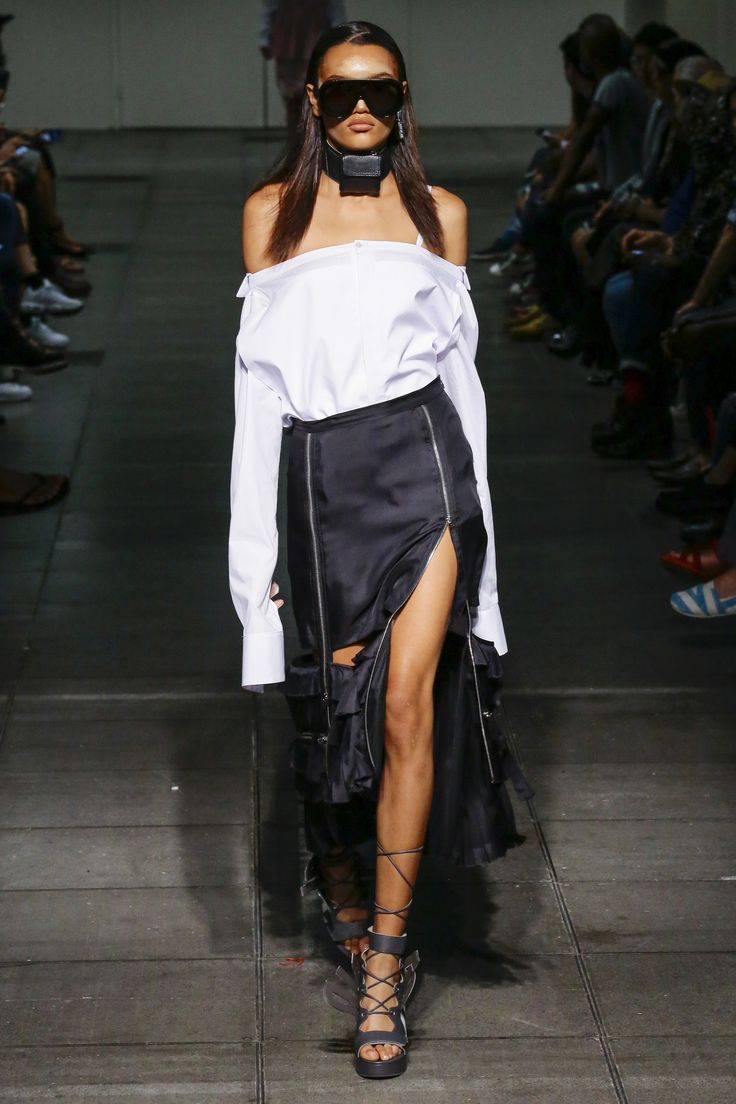 TREND 1: HIGH SLITS  Hood By Air Spring 2016 Ready-to-Wear Fashion Show