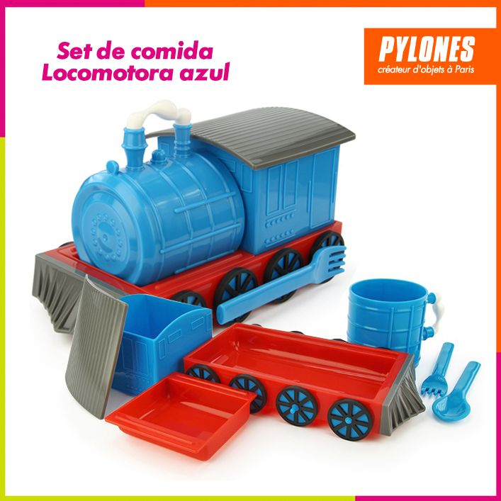 Set de locomotora azul #DíaDelNiño #FelizDíadelNiño @pylonesco