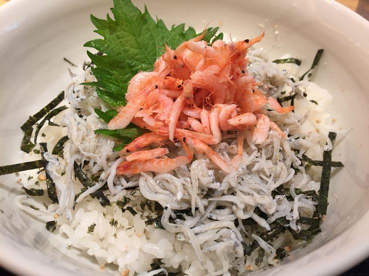 Shirasu & Sakura Ebi Don / シラスと桜えび丼