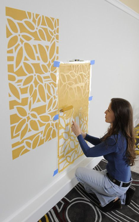 Merveilleux DIY Home Decorating Ideas On A Budget You Must Go For   Wall Paint With  Stencils