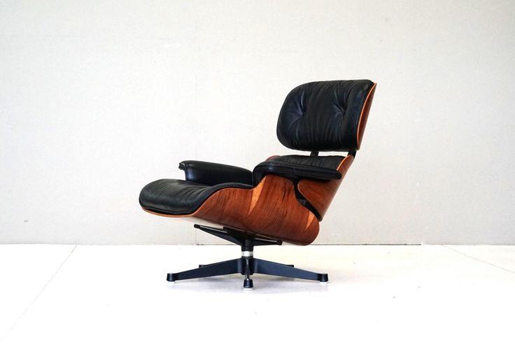 Elegant Charles Eames Lounge Chair Sessel Herman Miller Leder Palisander Rosewood