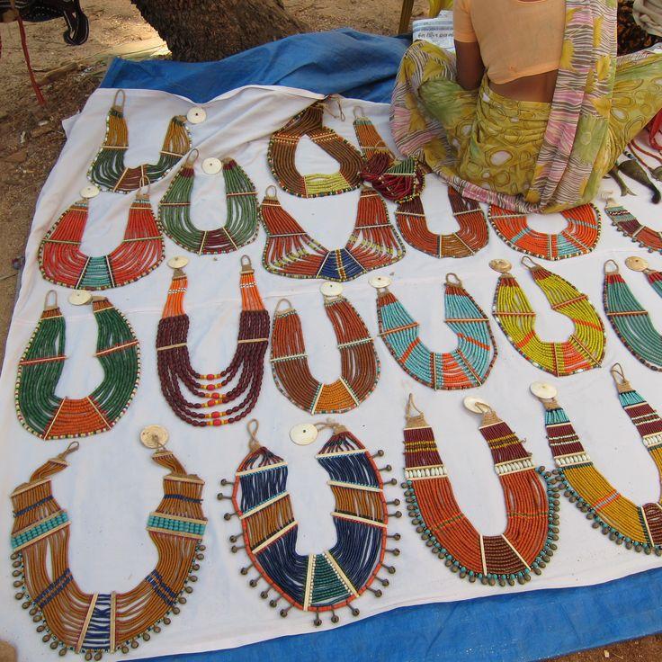 necklaces from Nagaland at Anjuna Flea Market, Anjuna, Goa