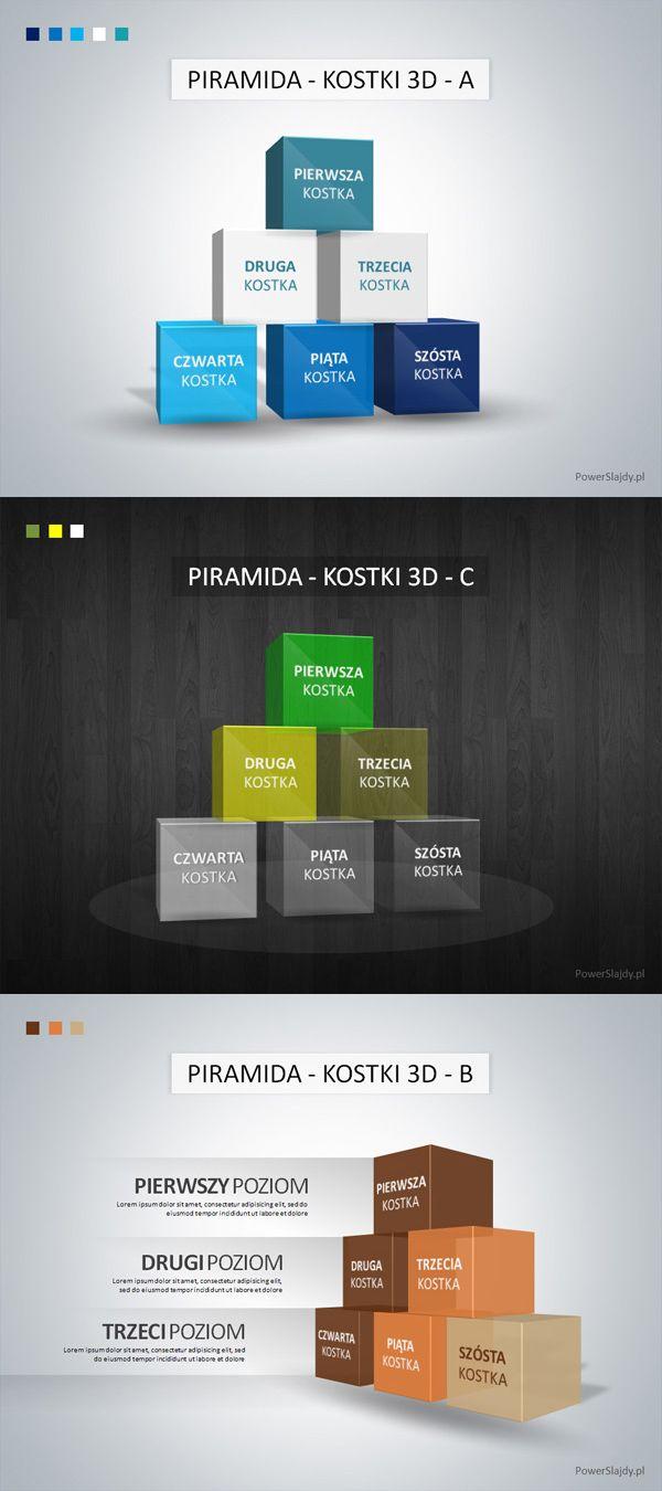 Piramida Kostki 3D - slajd Power Point http://www.powerslajdy.pl/pl/c/Slajdy/19/2