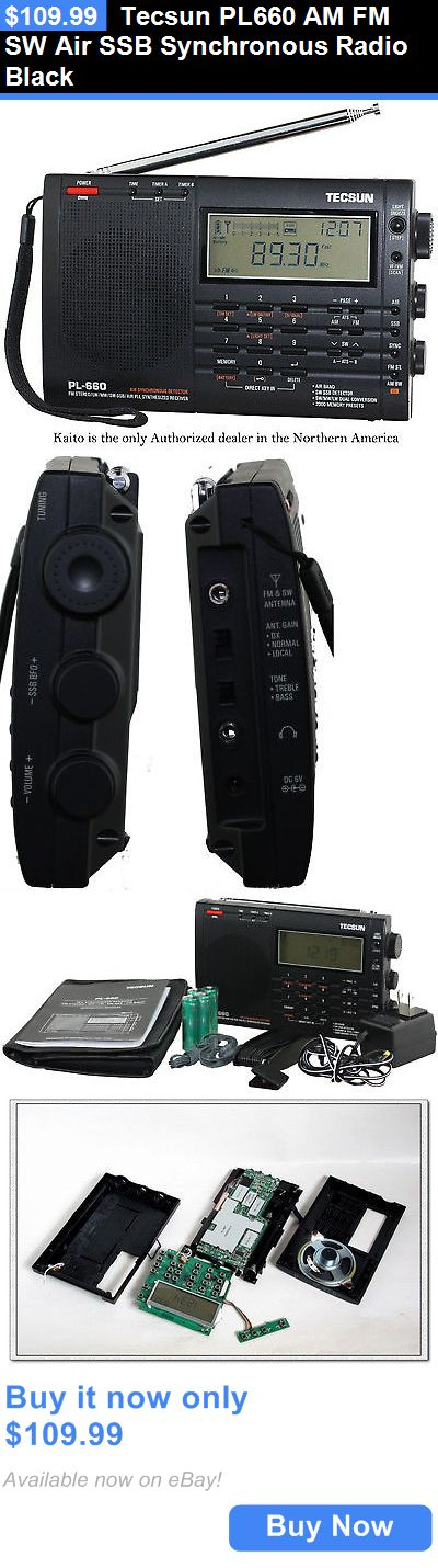 Portable AM FM Radios: Tecsun Pl660 Am Fm Sw Air Ssb Synchronous Radio Black BUY IT NOW ONLY: $109.99
