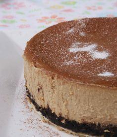 Coffee cheesecake. I won't ever make this but yum!