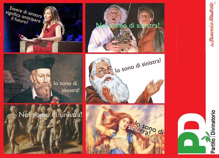 Maria Elena Boschi, Nostradamus, Dante Alighieri, Cassandra, Frate Indovino, Ritorno al futuro, Sinistra