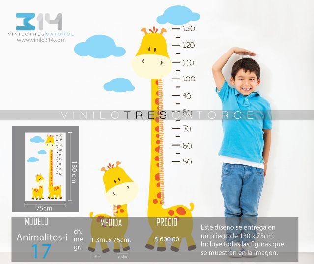 Vinilos decorativos infantiles sticker decorativo regla for Vinilos decorativos de ninos