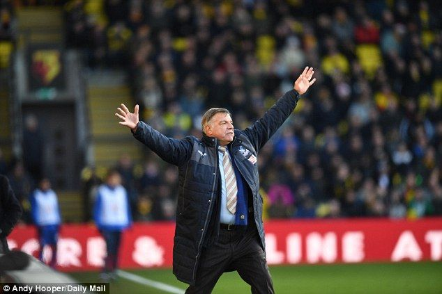 Sam Allardyce saw Crystal Palace play out a 1-1 draw with Watford on Monday afternoon