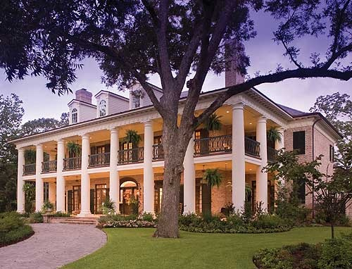 I do like some of the Southern Style houses. This is called Plantation Style