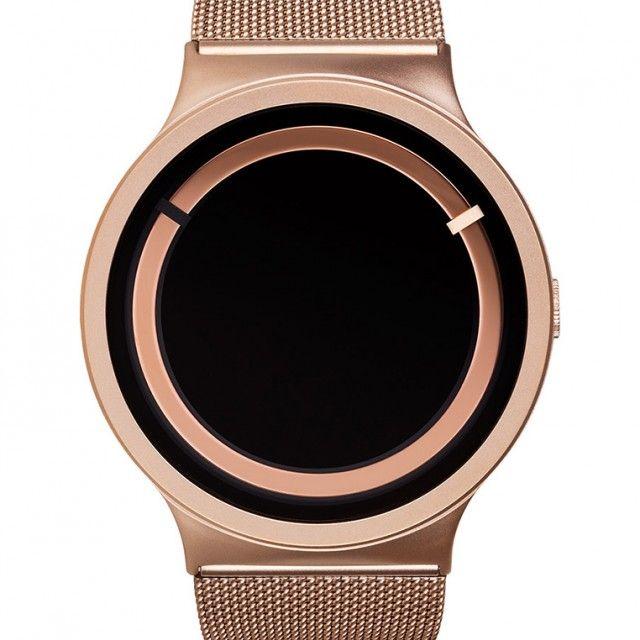Yatzer x Qrator/ Eclipse Rose Gold Steel Watch/ Ziiiro