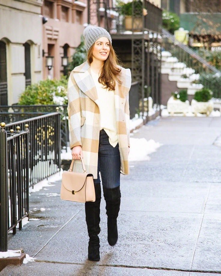 DKNY Plaid Woven Wool-Blend Walker Coat