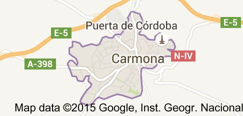 Map of carmona spain