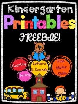 I cannot believe it's almost back to school time! These 5 pages are perfect for the beginning of the year in kindergarten. Skills practiced: *sorting letters/words *beginning sounds *Number recognition *Counting *Ten Frames **If you like this freebie, check out the full packet here: Kindergarten Back to School Printables - August & September **You might also like: Kindergarten Math Journals All Year ...