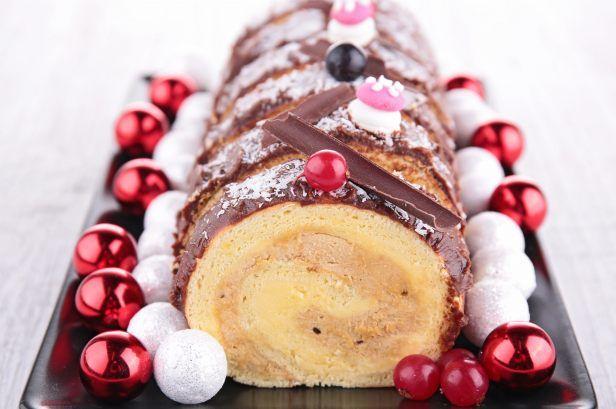 Recette de Bûche de Noël crème de marron et mascarpone