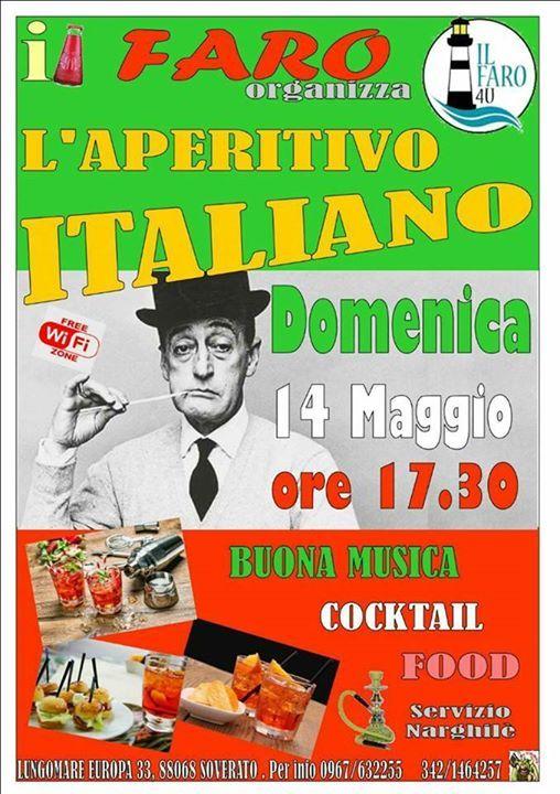 IL Faro per tutti gli amici che ci seguono e che vogliono trascorrere insieme a noi una piaciacevole Domenica sera, organizza l'aperitivo Italiano. Vi aspettiamo!!
