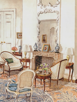 Mark Hampton's version of the Marshall drawing room by Ruby Ross Wood