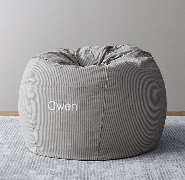 Overdyed Henley Stripe Canvas Bean Bag Cover