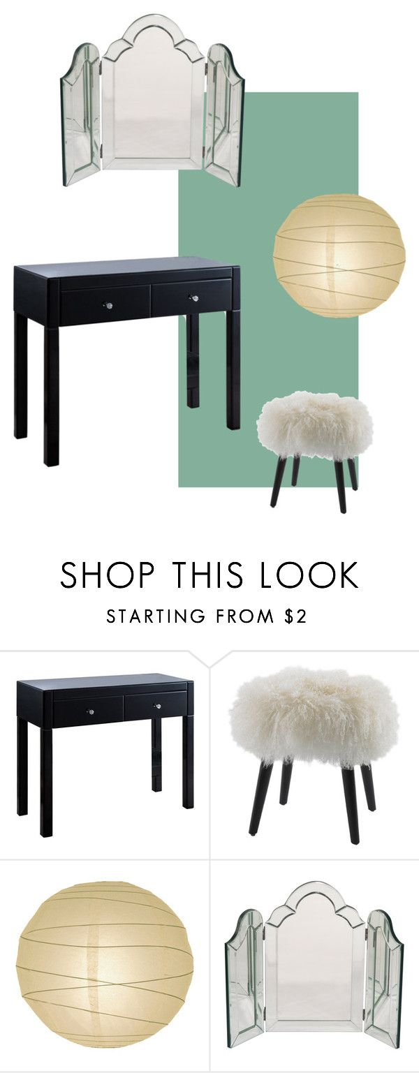 """dressing table"" by anaunderground on Polyvore featuring interior, interiors, interior design, casa, home decor, interior decorating e DwellStudio"