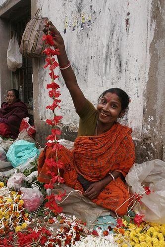 Flower seller, Calcutta