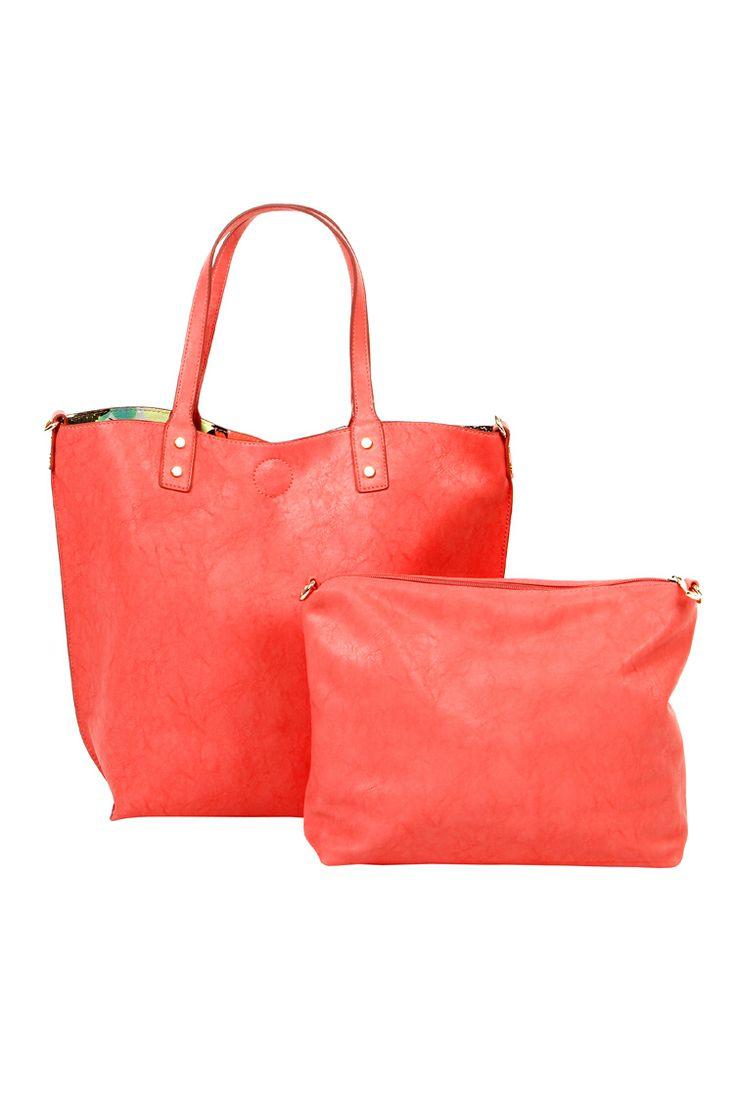 Double face shopper bag