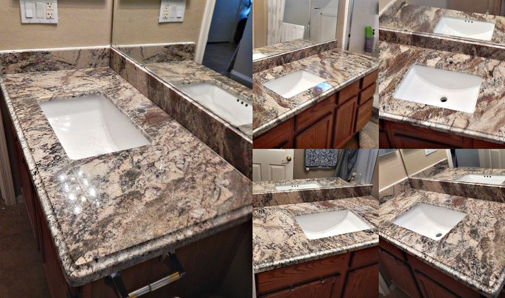 countertop remodel with Smokey Mountain granite, ogee flat edge ...