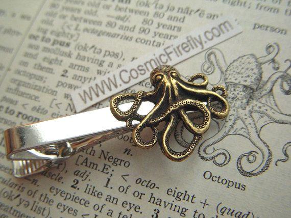 https://www.etsy.com/listing/115602001/brass-octopus-tie-clip-mens-tie-clip