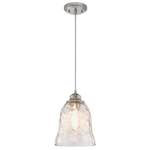 Herrod 1 Light Single Bell Pendant Brushed Nickel Pendant