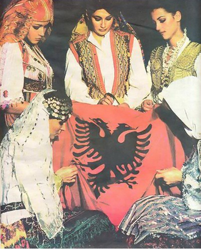 Kosova, Albanian flag. This has always been my favorite flag. Stylish.