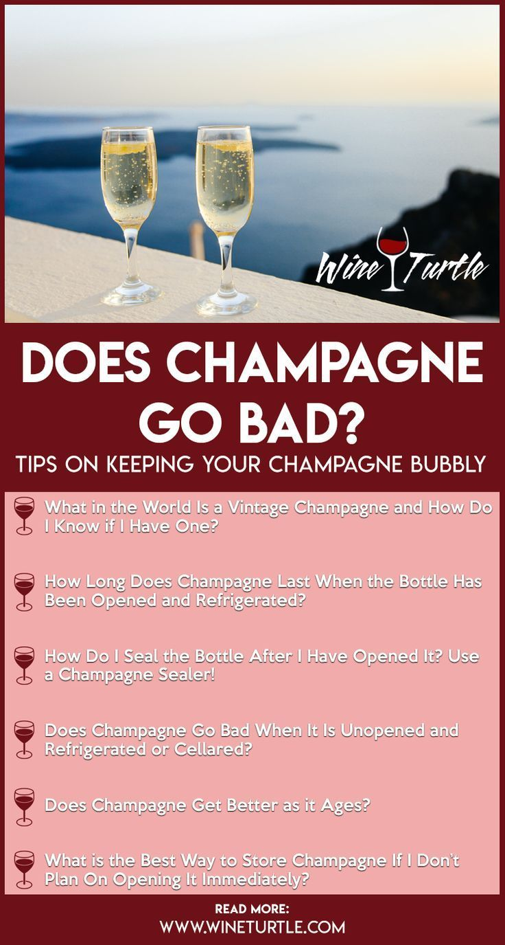 Does Champagne Go Bad How Long Does It Last In 2020 Sparkling Drinks Fun Wine Glasses Champagne Mixed Drinks Recipes
