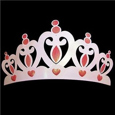 "26""x14"" Pink Metal Crown Wall Decor Over the bed 3D Princess Room Decor"