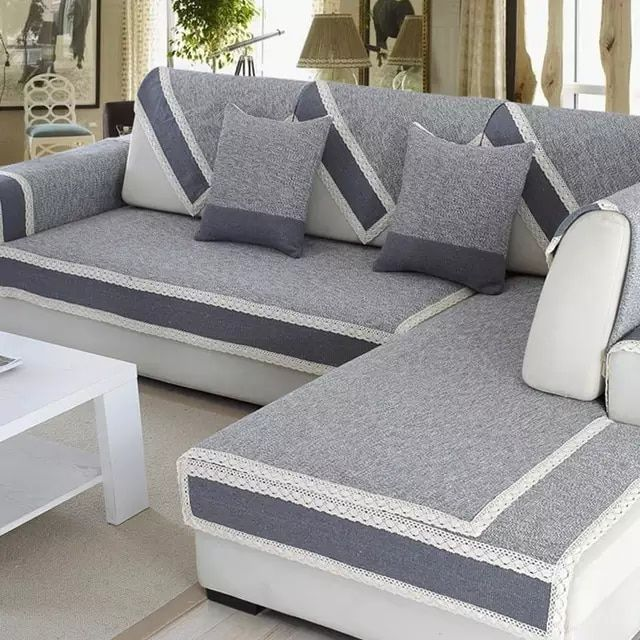 Online Shop L Shaped Sofa Cover Towel Pads W Pillow Case Warm Corner Sofa Cushion Cover Couch Cover Home Textile Corner Sofa Cushions Couch Covers Sofa Covers