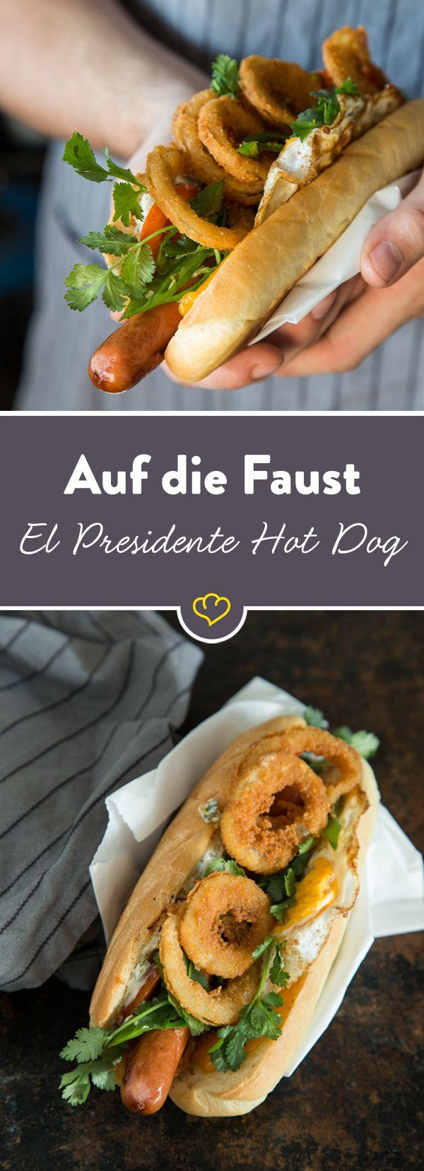 Dieser Deluxe Hot Dog hat den Namen El Presidente wirklich verdient.