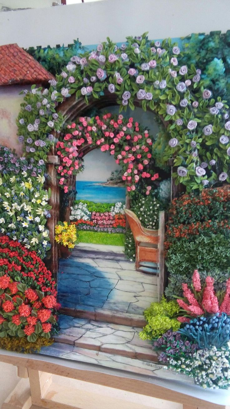 Ümmühan's flowers in the garden and papertole-Sümbül ELDEK