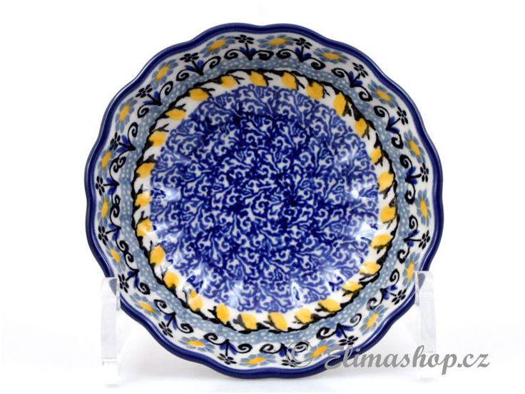 "Corrugated bowl small 12cm (4,5"") - *** ELIMAshop.cz *** Handmade Polish Pottery from Boleslawiec . Bunzlauer keramik . ceramics . stoneware . ELIMAshop.cz , shipping worlwide . Artystyczna ."