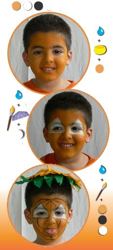 Halloween face paintings for kids pumpkin face painting for kids halloween makeup ideas