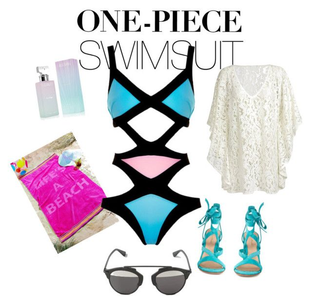 Sexy summer by renataoczak on Polyvore featuring polyvore fashion style Agent Provocateur Gianvito Rossi Christian Dior Calvin Klein clothing onepieceswimsuit