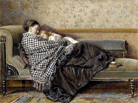 El arte de ser madre: Descanso al atardecer | Kilburne