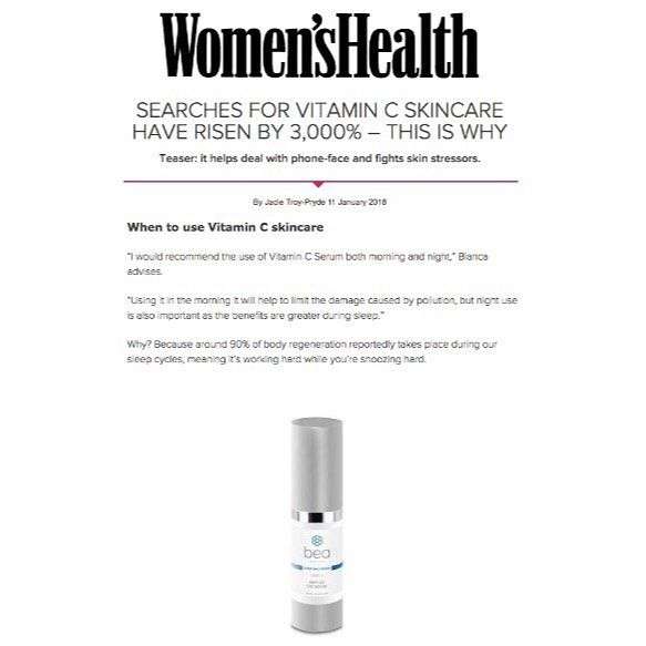 Get the 411 on skin care saviour Vitamin C! Thanks @womenshealthuk for including our founder Bianca Estelle's pearls of wisdom on this hero ingredient that works wonders for our skin from boosting collagen to treating acne. Head over to our online shop to stock up your #beautyshelfie 👌…