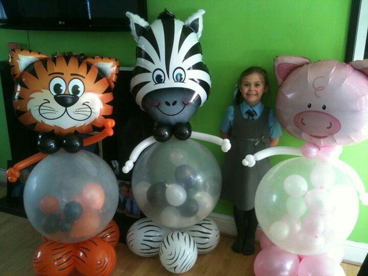 Esculturas de globos para fiestas temáticas de la selva. #FiestasInfantiles