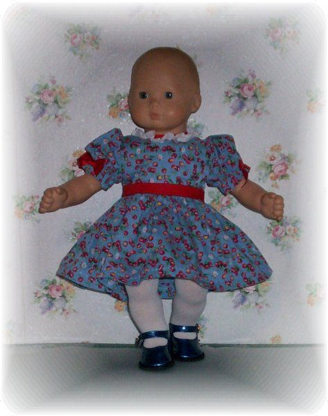 Doll clothes. Sweet cherry dress up dress for Bitty...