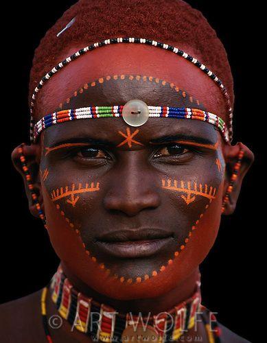 Hobre de la tribu Samburu, Kenya
