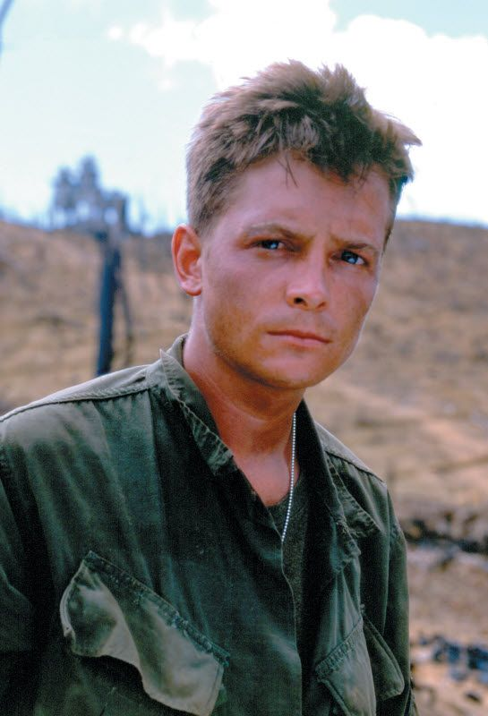 "Michael J. Fox, ""Casualties of War"" (Corazones de hierro), 1989."