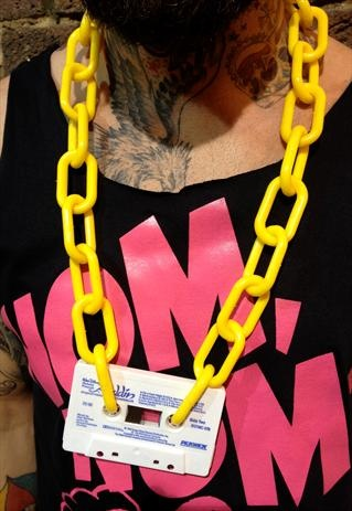 80 or 90's party necklace.