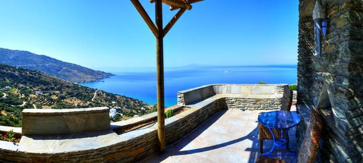 Private veranda with sea view, in big blue www.aegeancastle.gr