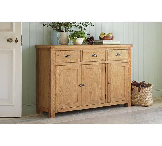 Buy Heart Of House Kent 3 Door Drwr Oak Veneer Sideboard At Argos Home And GardenLiving Room FurnitureSideboardArgosDressersOnline
