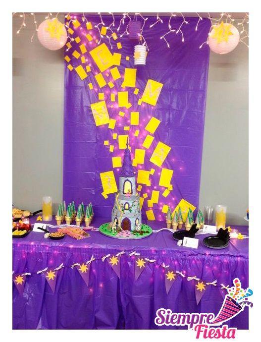 decoracion de cumpleaños de rapunzel enredados - Buscar con Google